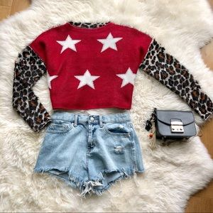 Nasty Gal Stars and Spots Cropped Sweater